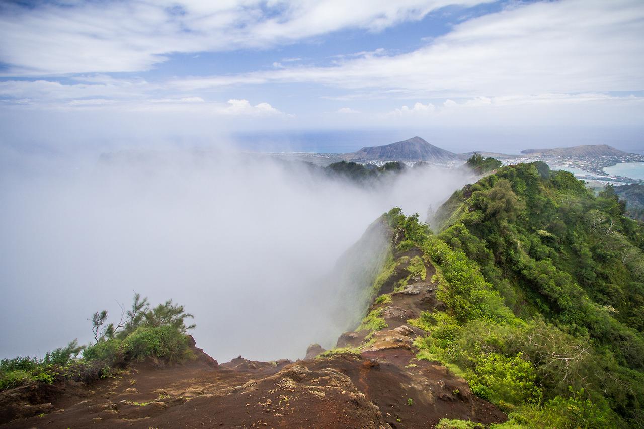 Pu'u O Kona with Clouds